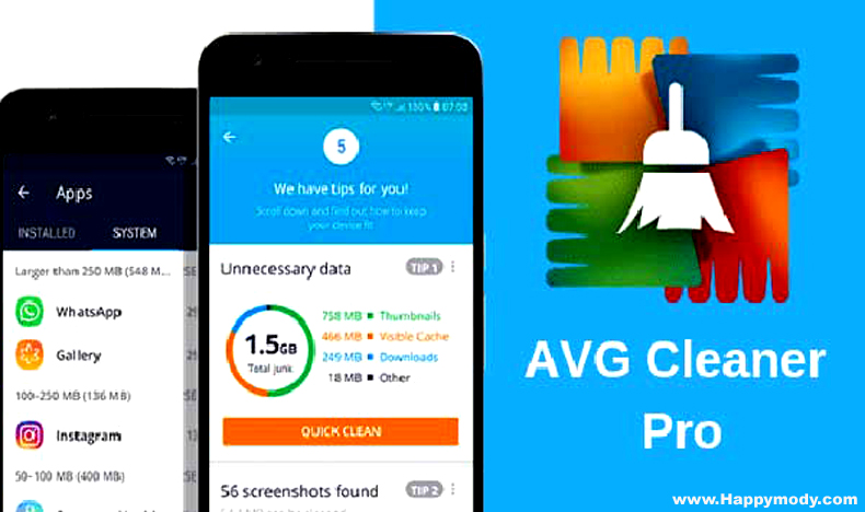 AVG Cleaner Pro Apk V5.3.1 Full Crack